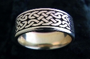 """Wide Woven Band Ring"""