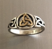 Trinity Ring Mixed Metal 14k/ss
