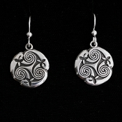 Triskele Spiral cutout earings  large