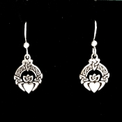 Trinity Claddagh earrings