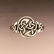 Pictish Protection Knot Ring, Sterling Silver