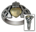 Contemporary Claddagh (gold and silver)