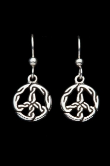 Infinite Peace Earrings, dangle style