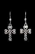 Shamrock Cross Ear Rings