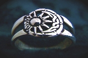 Celtic Moon & Sun Ring