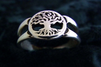 """Tree of Life Ring small"""