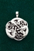 Triple Hounds Pendant