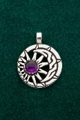 Celtic Moon & Sun w/Amethyst