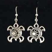 Sun Moon Turtle Earrings