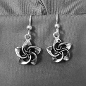 Celtic Plumeria Earrings