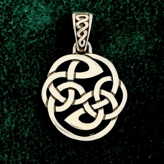 Pictish Knot of Protection Medallion