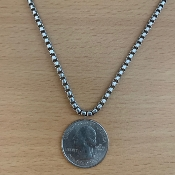 3.5mm, Heavy Round Box Chain, Sterling