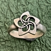 "Plumeria Ring, ""The Flower of Life"""