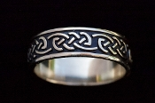 Eternity Knot band ring, wide version