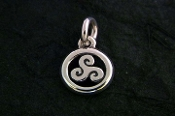 Tiny Triple Goddess charm