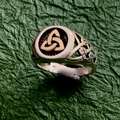 Trinity Signet Ring, Mixed Metals!