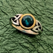 Trinity of the Emerald Isle, Sterling/14K