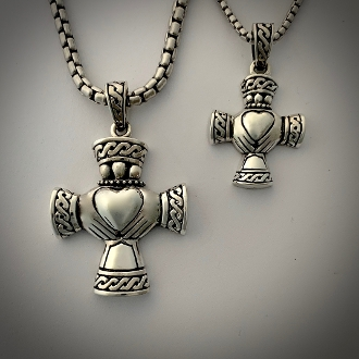 Cross of the Claddagh! Sterling, small