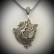 Celtic Dragon Medallion, Contoured version