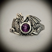 Guarded Treasure Dragon Ring, Gemstones