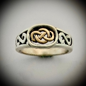 Infinity Knot Ring small  (14k Gold & Silver)