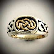 Infinity Knot Ring large (14k Gold & Silver)