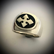 Maltese Cross Heavy Sterling Signet Ring