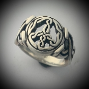 Celtic Peace Ring, heavy version