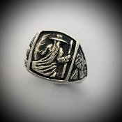 Odin's Vision Ring, with Ravens