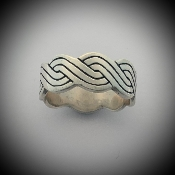 Wave Braid Band Knot Ring