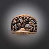 Welsh Dragon Ring, 14K Gold (custom order)